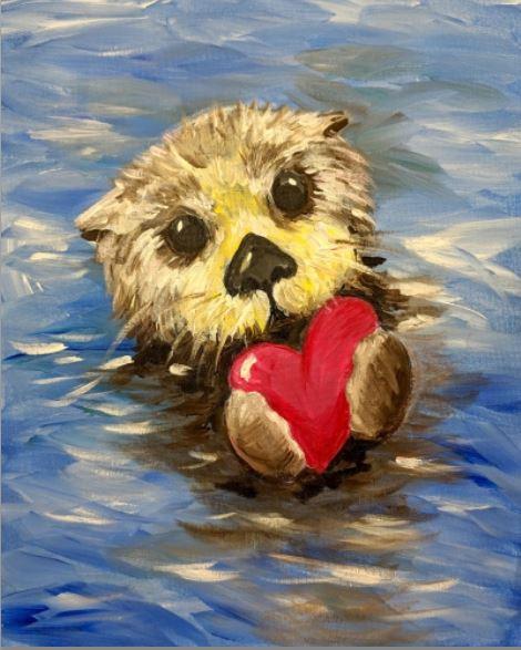 PaintNite Fundraiser Valentines Otter.JPG