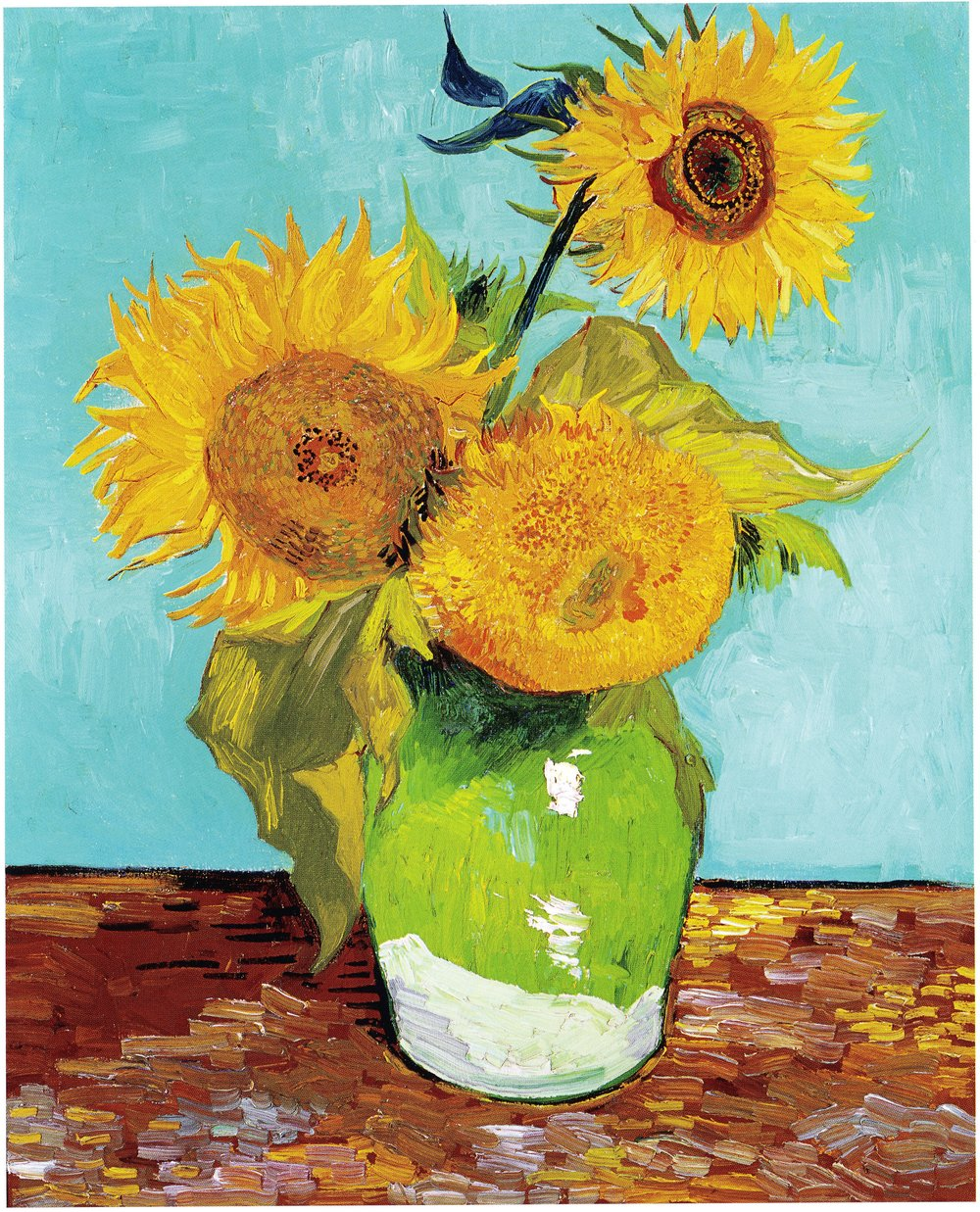 Three Sunflowers by Vincent Van Gogh