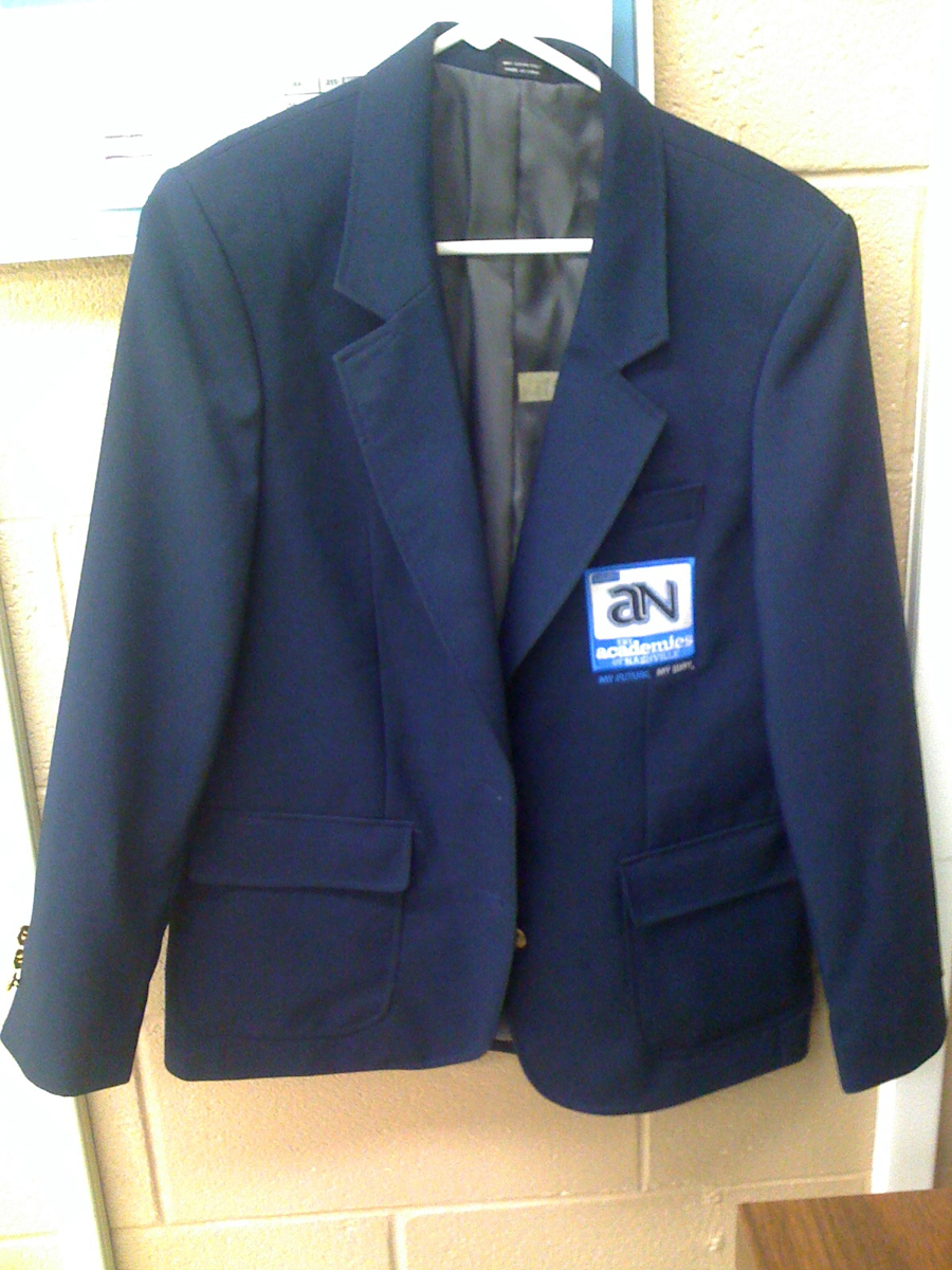 Official jacket uniform for student ambassadors in the Academies of Nashville