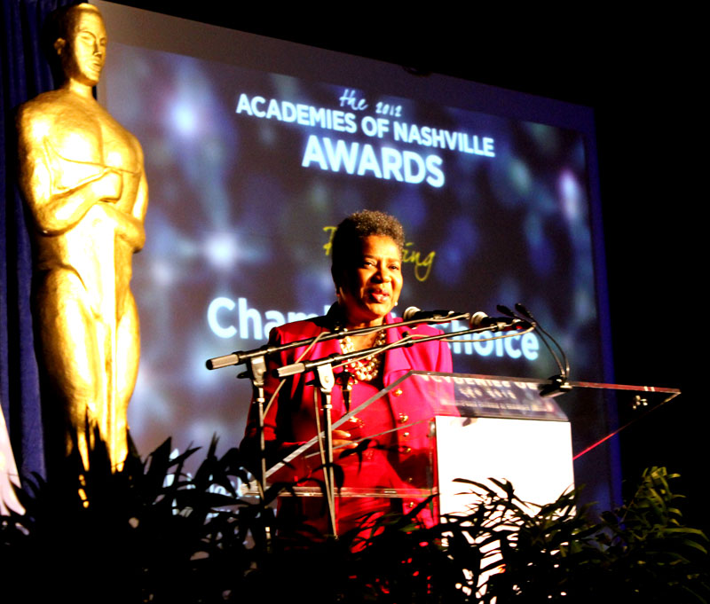 Brenda Gilmore Tennessee House Representatives 2012 Academies Nashville Awards