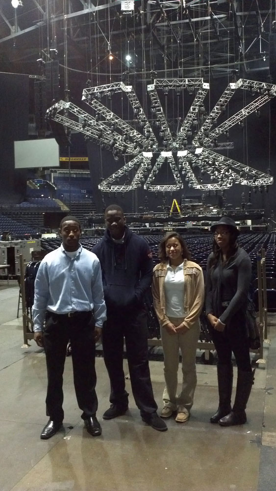 Antioch students job shadowing Bridgestone Arena 2012