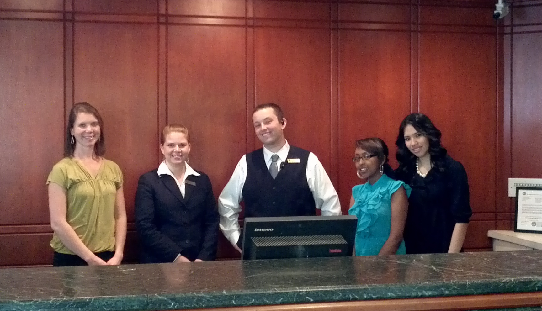 Antioch students job shadowing Hilton Suites 2012