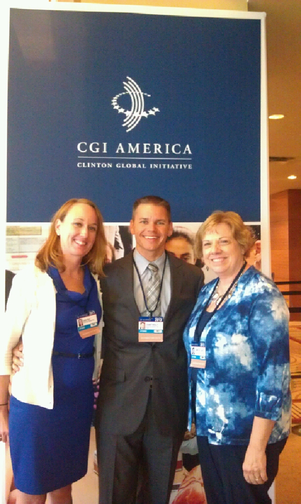 Lucia Folk, Chaney Mosley, and Connie Williams attended the Clinton Global Initiative this week in Chicago, Ill.