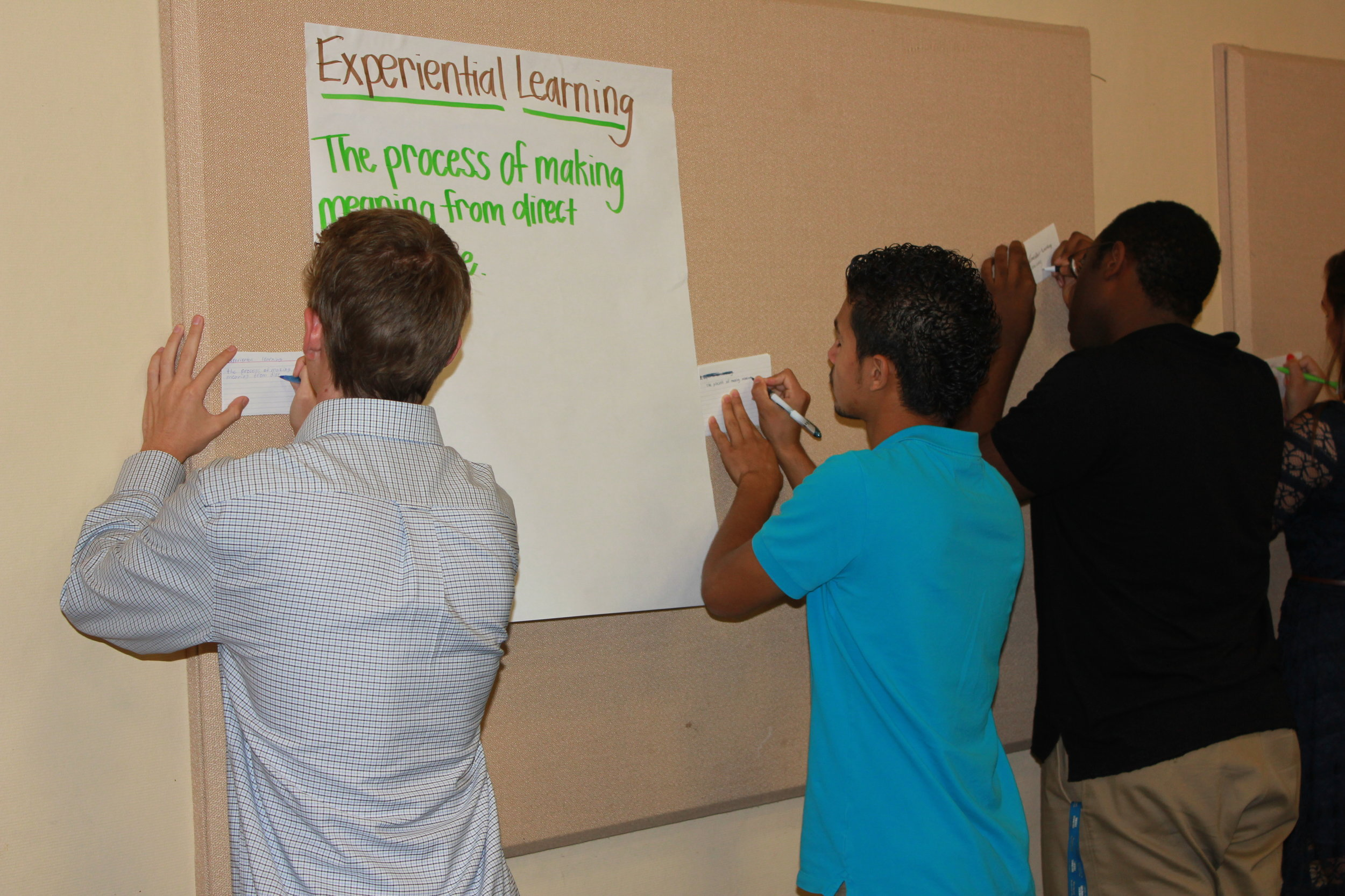 Students learned a variety of leadership skills that will be extremely valuable during their year of service.