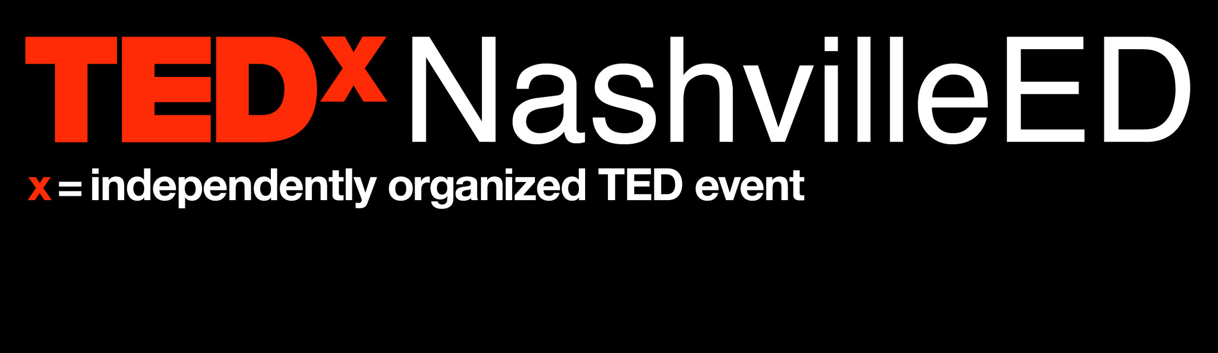 TEDx NashvilleED one line black