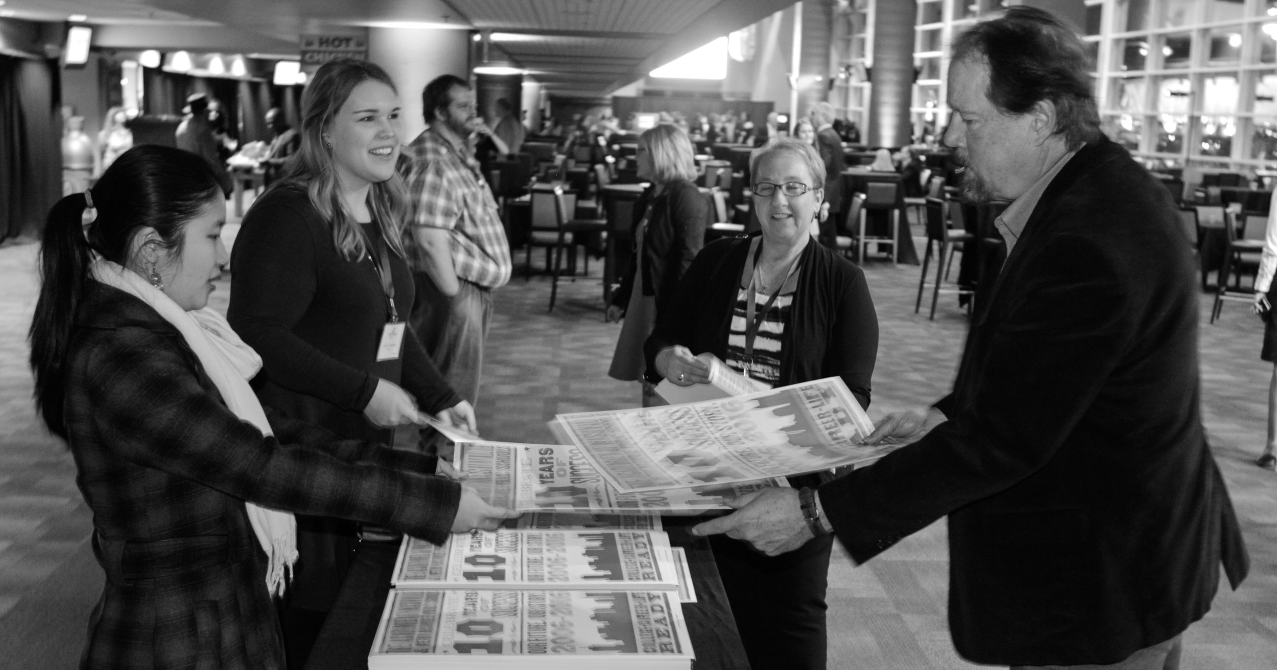 Every business partner and school employee in attendance received a commemorative Hatch Show Print to recognize the work of the past decade in the Academies of Nashville.