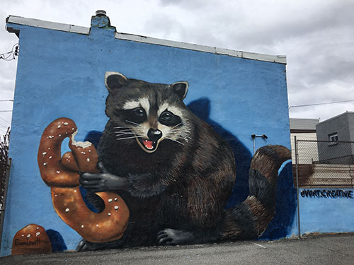 Copy of Critter Mural With Pretzel See Philly Run