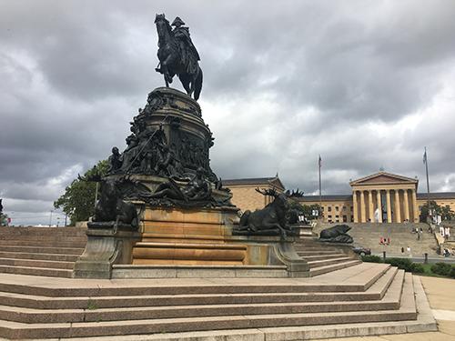 Copy of Washington Statue Eakins Oval SeePhillyRun