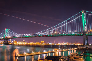 Ben Franklin Bridge Night SeePhillyRun