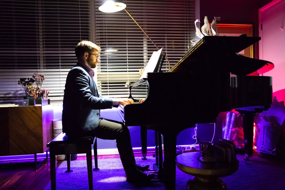 Philip performing Clementi at a Salon Evening at Studio V.JPG