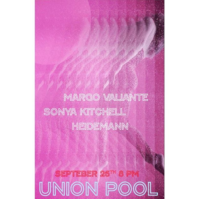 WEDNESDAY 9.26. 🔮 Playing a show at my favorite spot with two gems @sonyakitchell and @monikromatone - miss @jesskehume will be all over this gig as well. Don't miss! Tickets are available now - $12 - doors at 8PM. @union_pool  #livemusic #williamsburg #brooklyn #unionpool #nyc #singing #girlsbeinggirls
