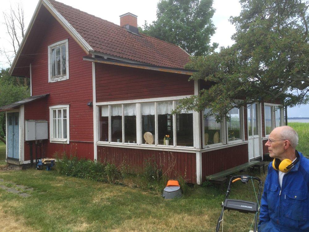 Tommy håller ordning, bilden är tagen i juni 2016                                                                    Bild Clas Rydgren