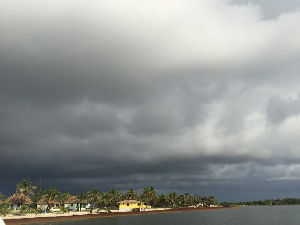 Stormy skies on Turneffe Atoll, Belize