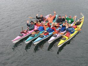 Group Kayak in the San Juan Islands