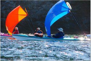 Kayak Sail Trip San Juan