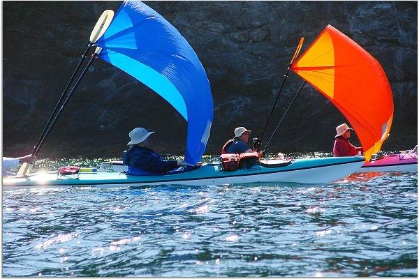 Sea Kayak Sailing in Friday Harbor