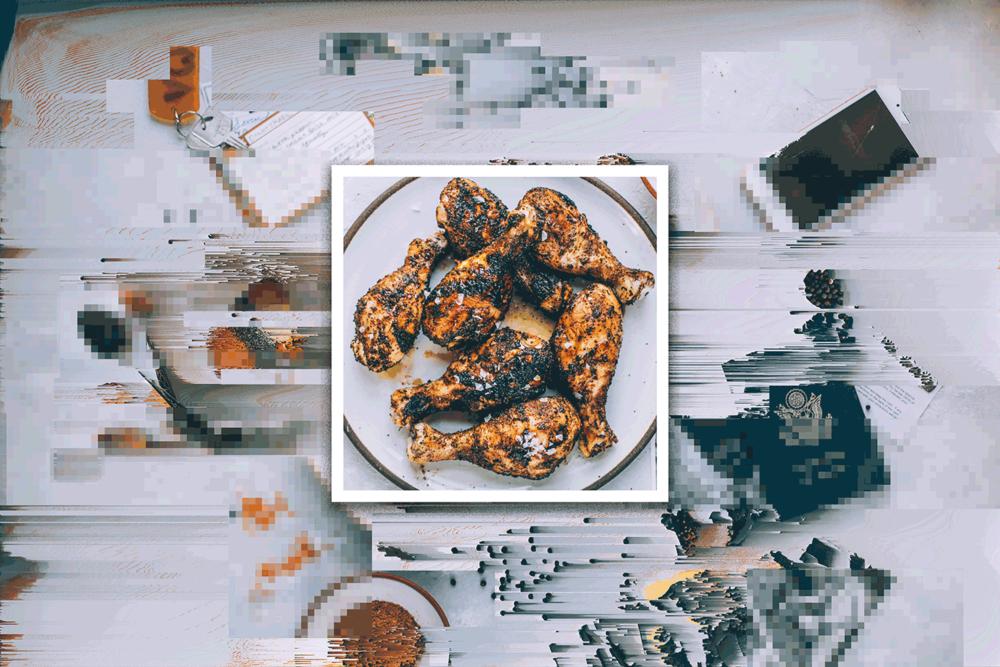 exposed BBQ spice rub -
