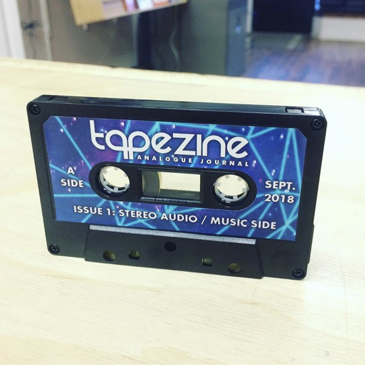🔥 #Tapezine  issue 1 features some Chanteclair music. It is now available  @thedupeshop ! #Tapezine combines sound, image, text and data using a standard audio cassette 😍 Also featuring work by  @provincialparcs  🎼👩‍🎨🌍