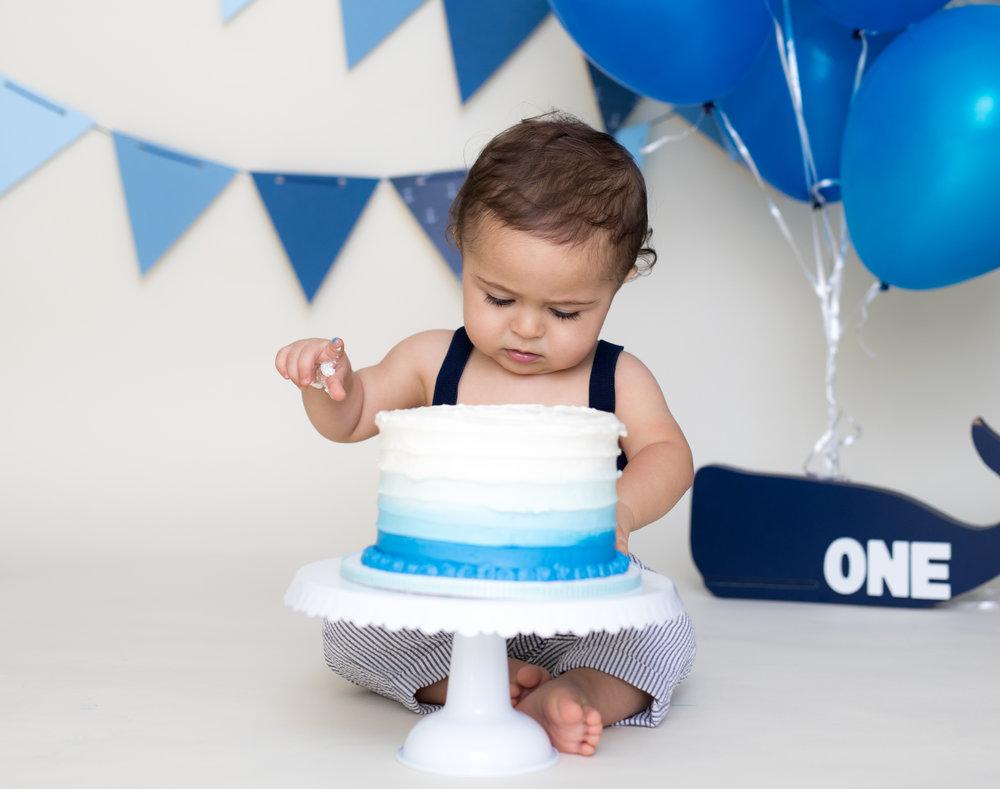 AJ Cake Smash 1 Year