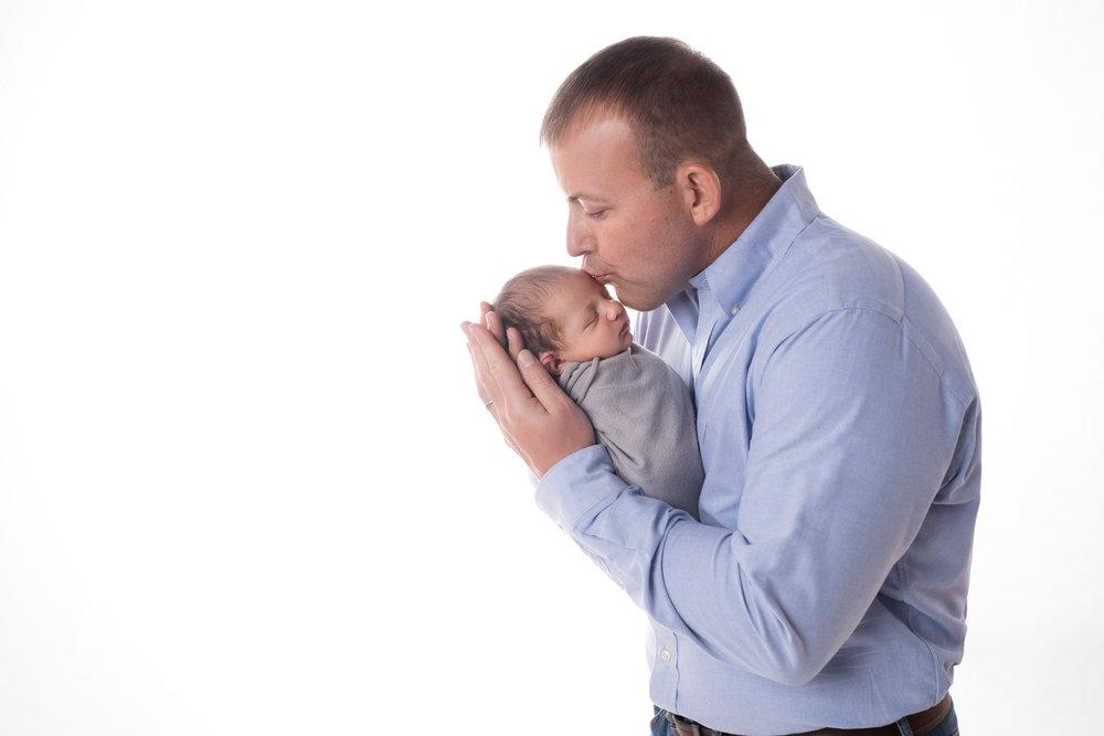 Newborn Portrait   Father and Son