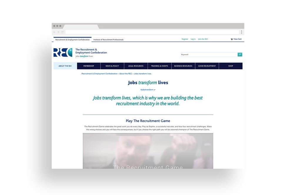 REC website page design - Eva B.