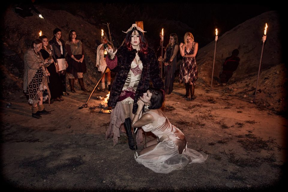 Witch leader Morgan played by Lilth Astraoth with subservient Jessica played by Alexandra Bruno Photo by Dan Nyman