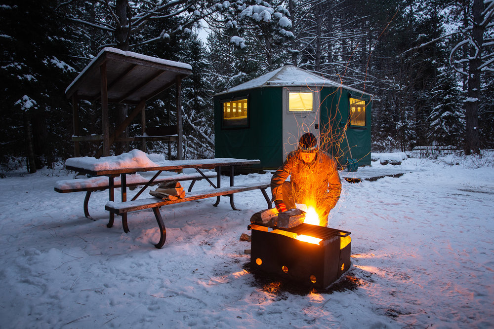 Mew Lake in a Yurt: Algonquin Park in the Shoulder Season - Click on image to read at Explorers' Edge