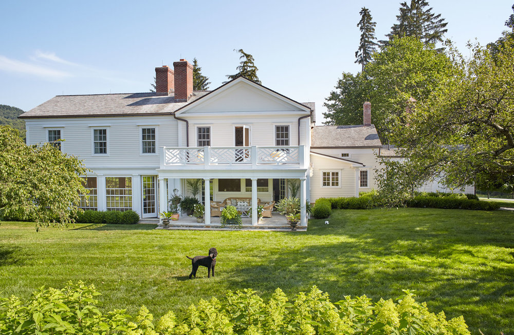 At Home in Millbrook - This is one of my most rewarding design projects: the major renovation of our 1800 farmhouse in Millbrook N.Y. The addition includes a bright, airy family room with floor-to-ceiling windows, bedrooms and a bathroom for our twin girls, along with a new entryway.