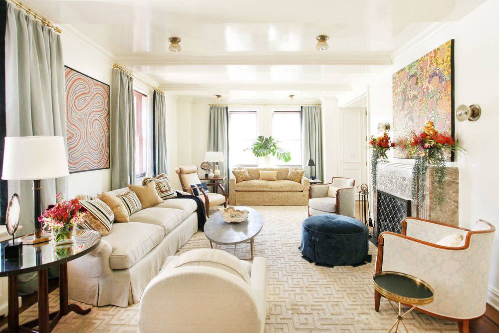 Collector's Pied à Terre - This apartment is a New York pied à terre for a couple who have an important collection of aboriginal art, which I needed to study and research to design the space.