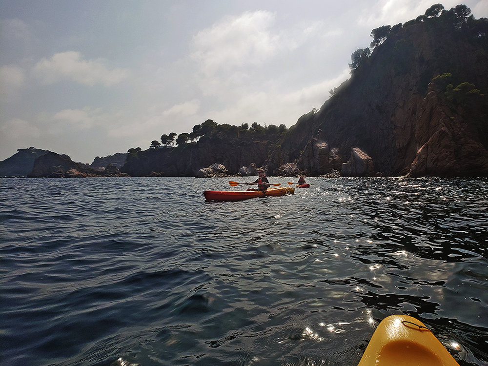 Resident artists can explore the Catalan littoral through guided kayak excursions offered as part of the program.