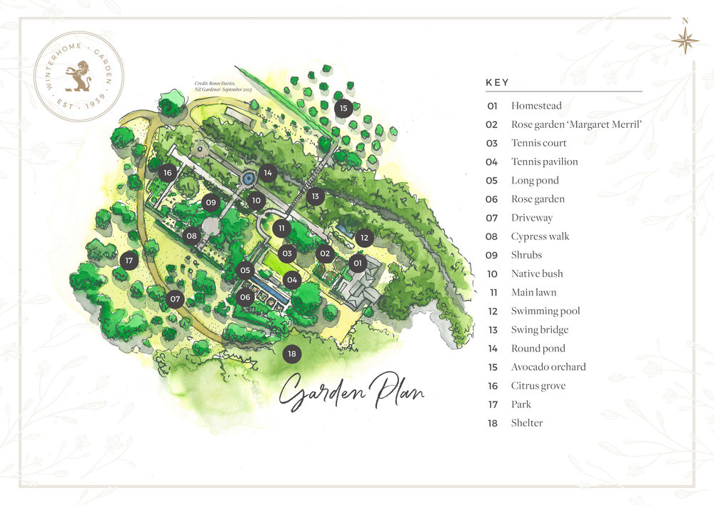 Winterhome Garden Map