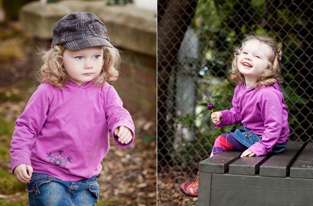 Pre-school girl in the park