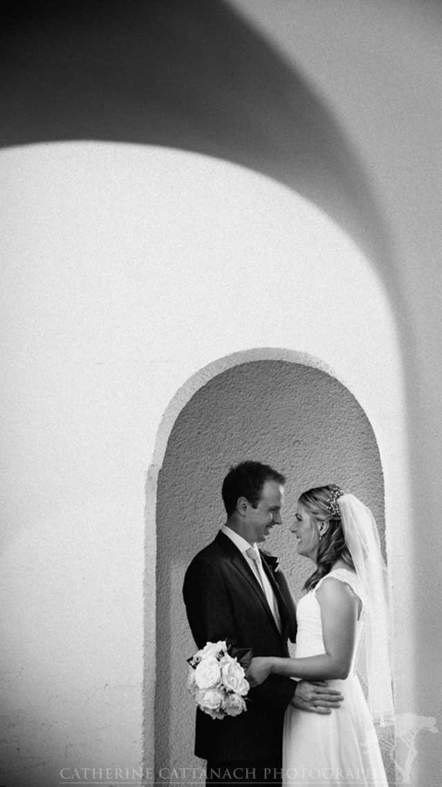 Bride and groom in Sacred Heart Basilica, Thorndon