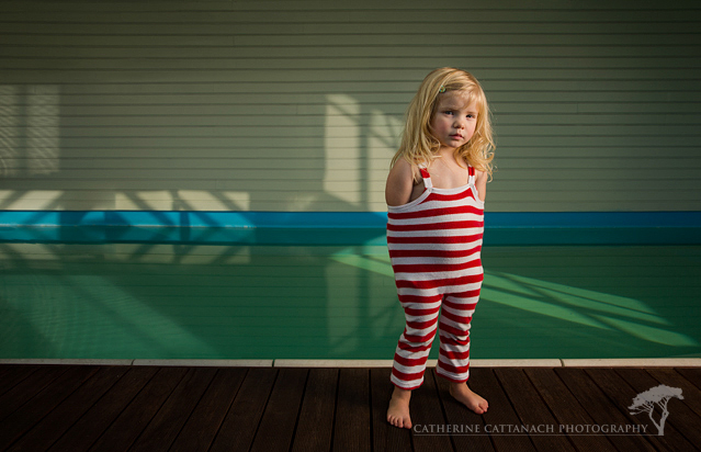 Phemie by the pool