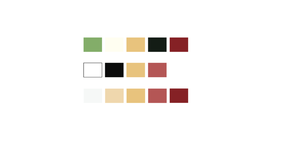 For each of the redesigned labels, I decided on a color scheme that was modified versions of the originals to maintain the integrity of the brands I was representing,