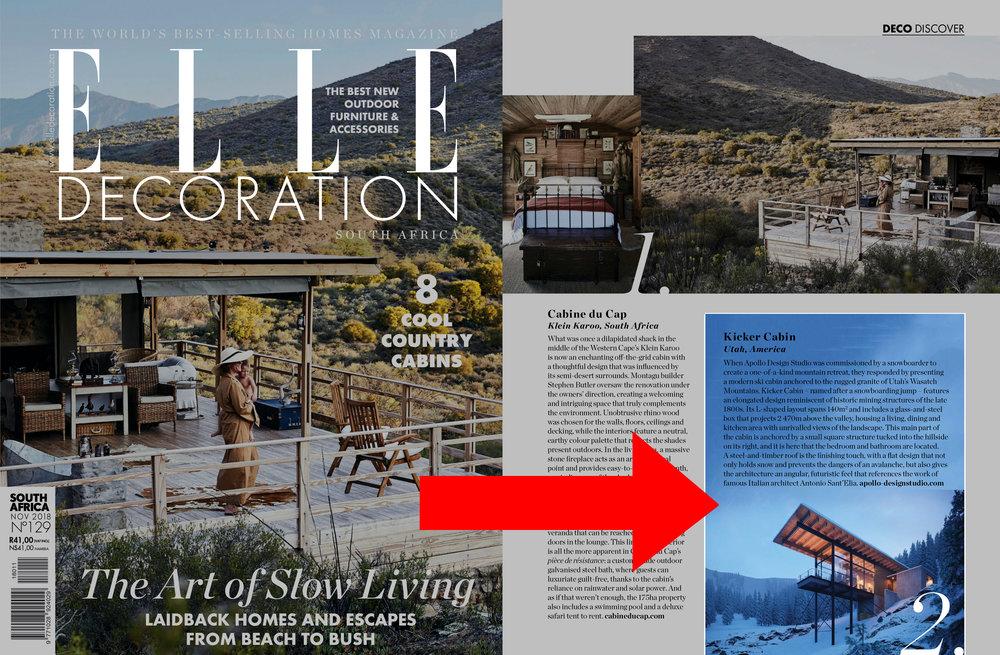 Elle Decor architectural article