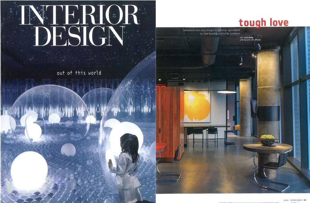 Interior design magazine architectural interiors
