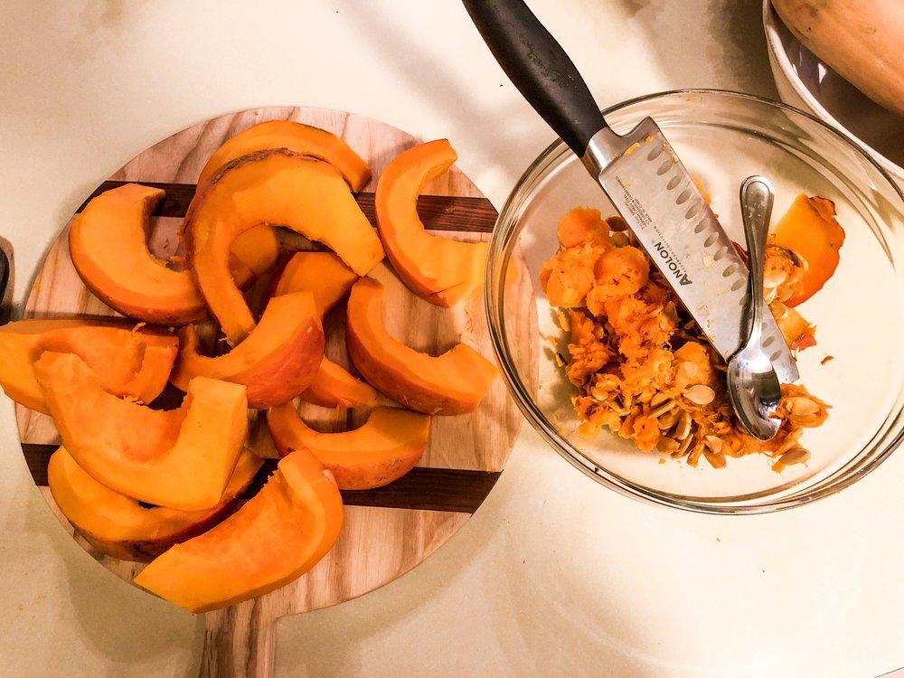 Perfect Winter Appetizer - Roasted Cinnamon Kabocha Squash
