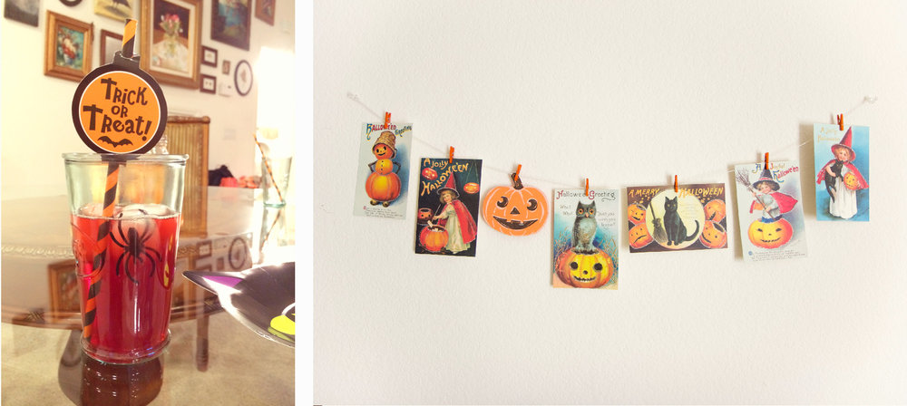 Halloween 2014 banner and drink