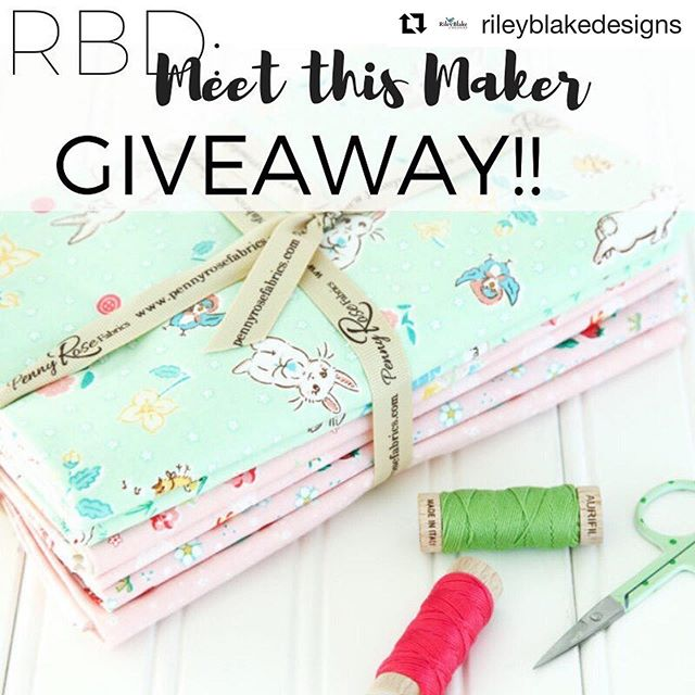 Hey guys! @rileyblakedesigns has been doing Meet the Maker featured and today is my go around. ☺️ Head over to their blog to learn a little more about me and the bit of randomness in my life. 🤪 and enter to win a bundle of my fabric cuz why not?? :D be sure to comment on their original post! ・・・ It's time for another Meet this Maker GIVEAWAY!! Today's stop is the wonderful @transientart✨🌈 Head to the blog to get to know this designer and enter below to win a 1 yard bundle of Bunnies & Blossoms! HOW TO ENTER: 1. Follow @transientart  2. Follow @rileyblakedesigns  3. Tag a friend! You may tag as many friends as you'd like for extra entries. Giveaway closes 2/7/19 at 11am MDT! This giveaway is not affiliated with Instagram and by entering you acknowledge you are at least 18 years of age. Open Worldwide. #meetthismaker #meetthemakersquilt #rileyblakedesigns #giveaway #fabric