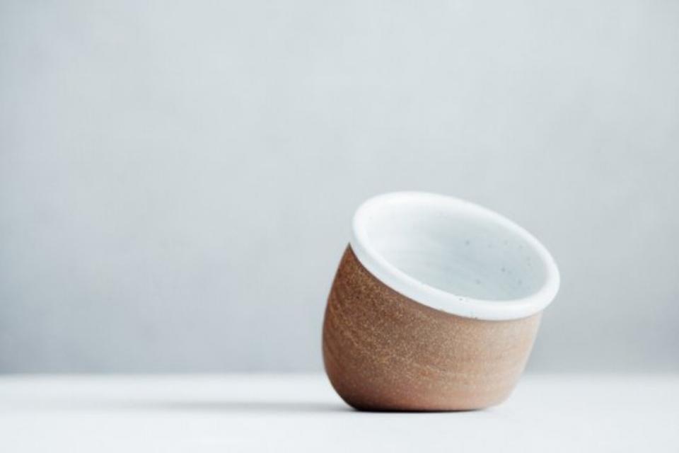 Handmade Ceramic Salt Cellar - $30