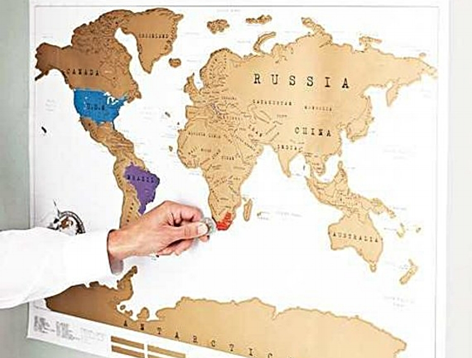 Scratch-able World Map - $14