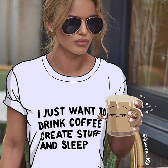 Yes. Us this Monday AF. Sleep. Create and Caffeinated. @donna_adi So in love with your work 💕