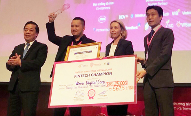 2018 Champion of Fintech Challenge Vietnam  - organized by the State Bank of Vietnam, the Asian Development Bank, and Australian Government