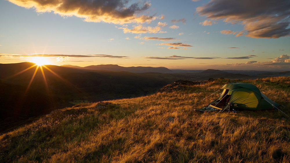 Place Fell with Tent, Lake District