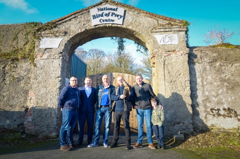 From left to right: Stephen Cullen (Anixter), Mark Corrigan (Evolution Ireland), Brendan McDonald, Tom Byrne, Peter Dempsey, Kayden Dempsey (Peter's son)