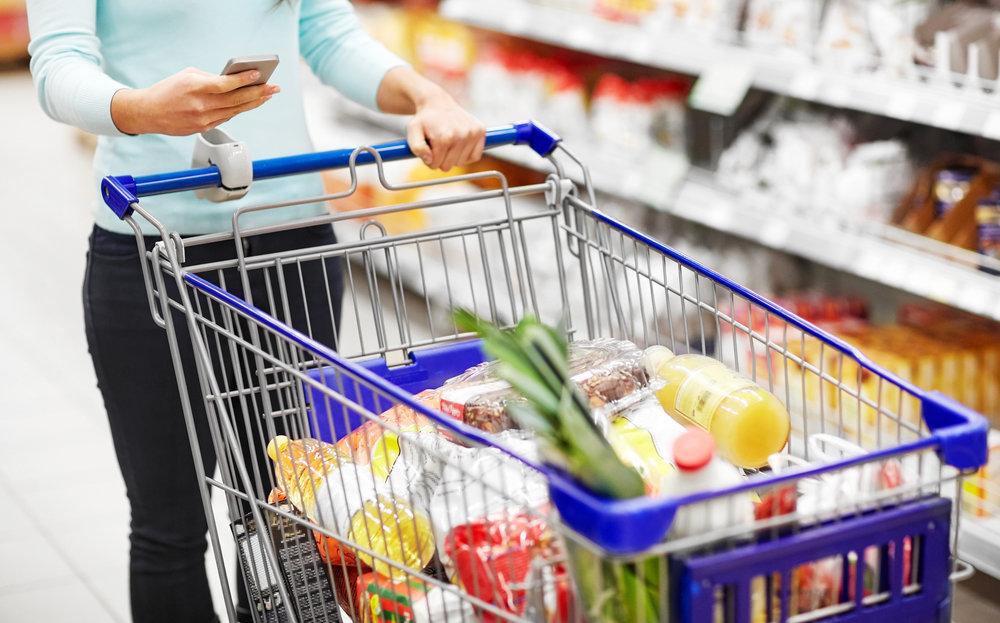 Hauswärts Einkaufshilfe für Familien