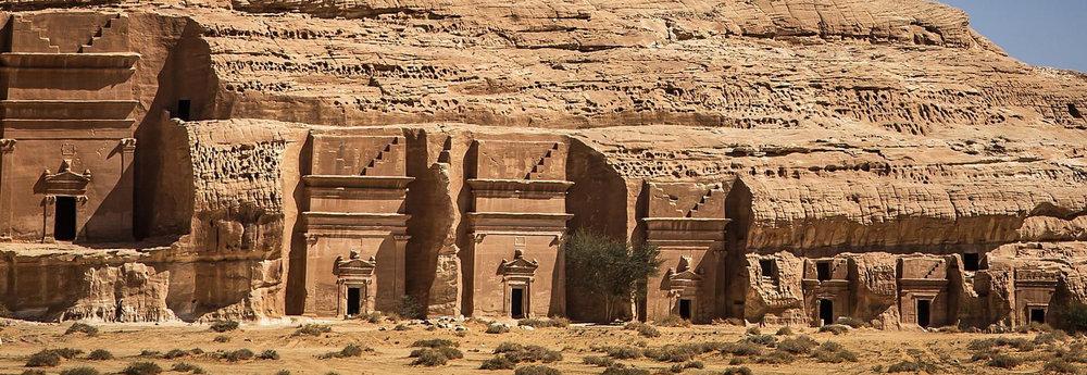 an ancient pre-Islamic archeological site in Saudi Arabia.