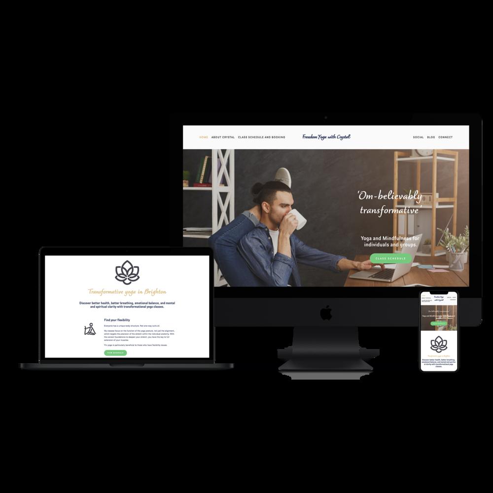 Leeds Freelance web designers - Yoga website.png