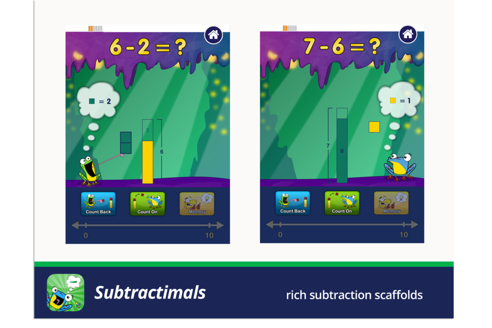 Subtractimals, rich subtraction scaffolds